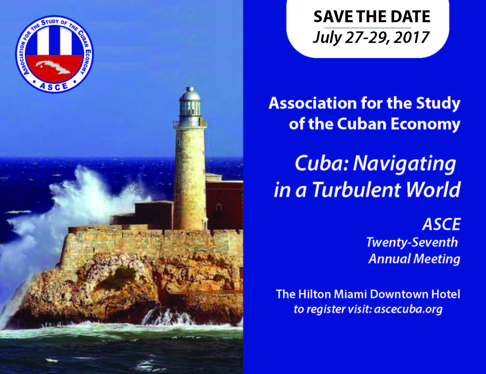 Save the date for ASCE 2017 conference