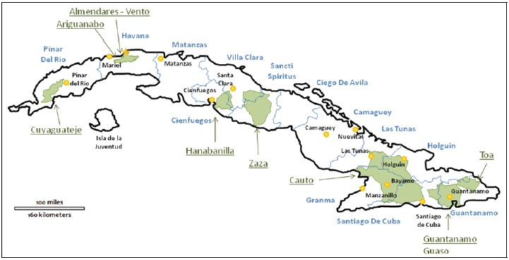 Water And Wastewater Infrastructure Priorities For Cuba With - Major cities map of cuba